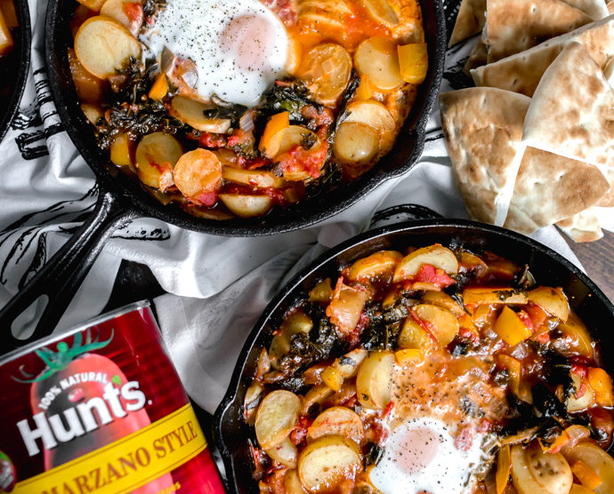 Kale and Potato Shakshuka with San Marzano Style Tomatoes